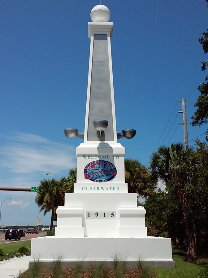 NEW CLEARWATER FLORIDA WELCOME SIGN